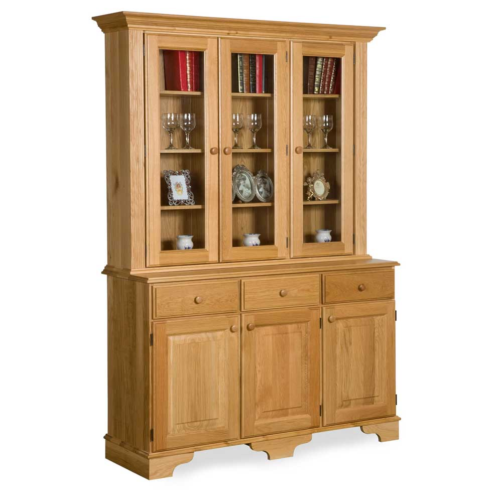 Oak Traditional Full Glazed Dresser