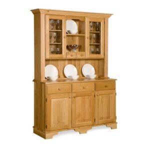 Oak Traditional Glazed Spiced Drawer Dresser