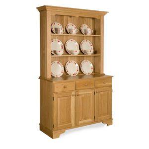 Oak Traditional Open Dresser