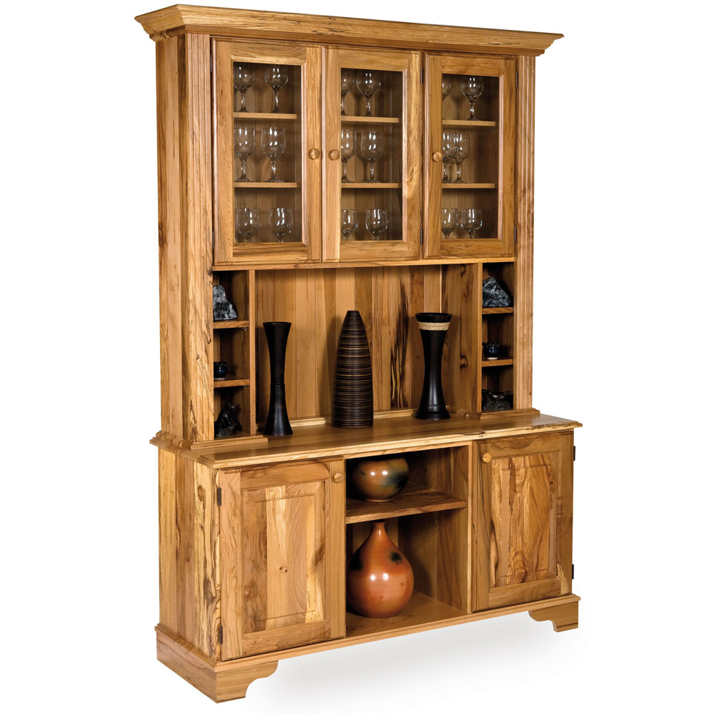 Spalted Beech Glazed Display Cabinet