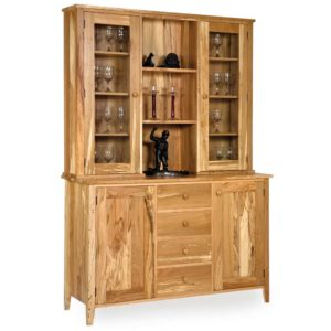 Spalted Beech Glazed Shaker Display Cabinet