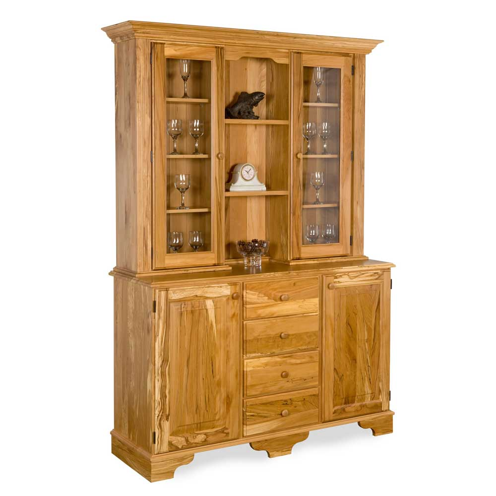 Spalted-Beech-Traditional-Glazed-Dresser W 143 cm H  200 cm D 47 cm