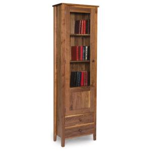Walnut Shaker Glazed Bookcase