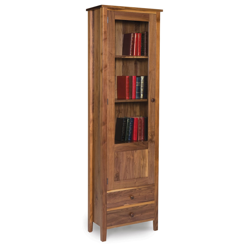 Walnut Shaker Glazed Bookcase