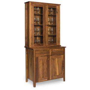 Walnut-Shaker-Glazed-Display cabinet