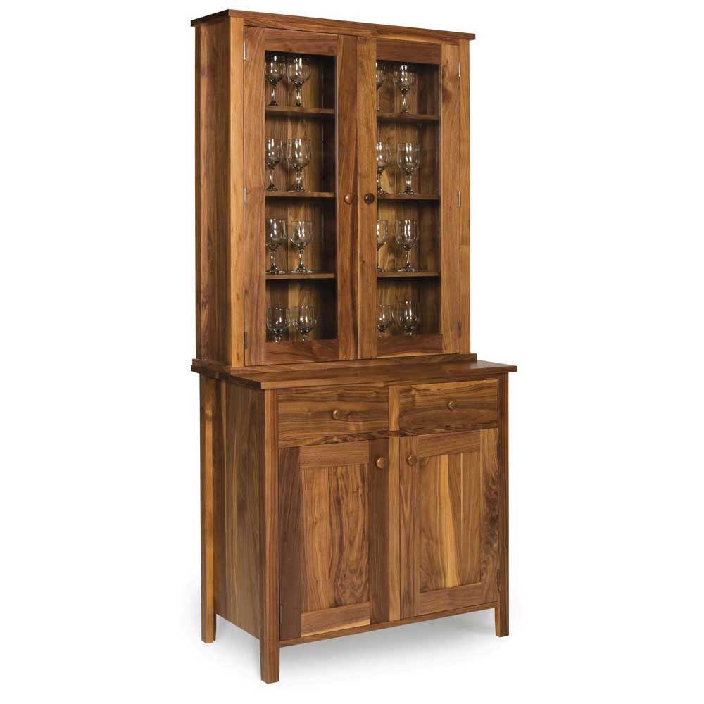 Walnut-Shaker-Glazed-Display cabinet