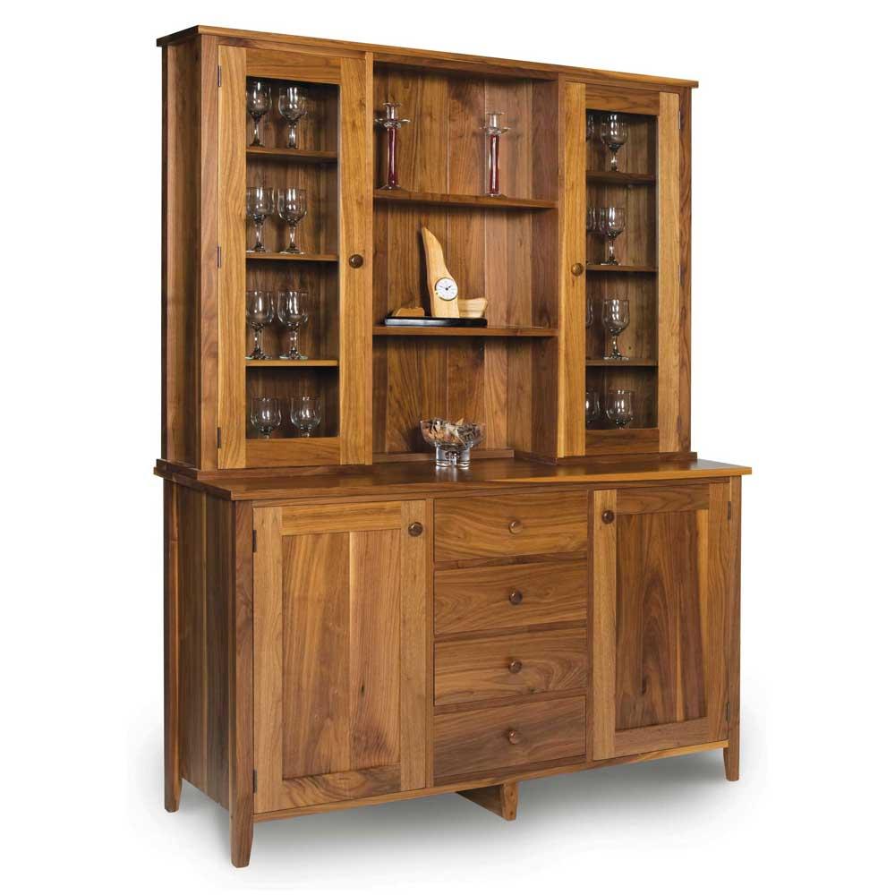 Walnut Shaker Glazed Dresser