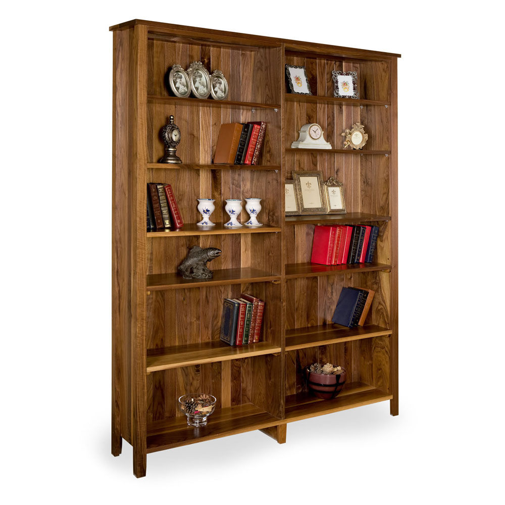 Walnut Shaker Open Bookcase