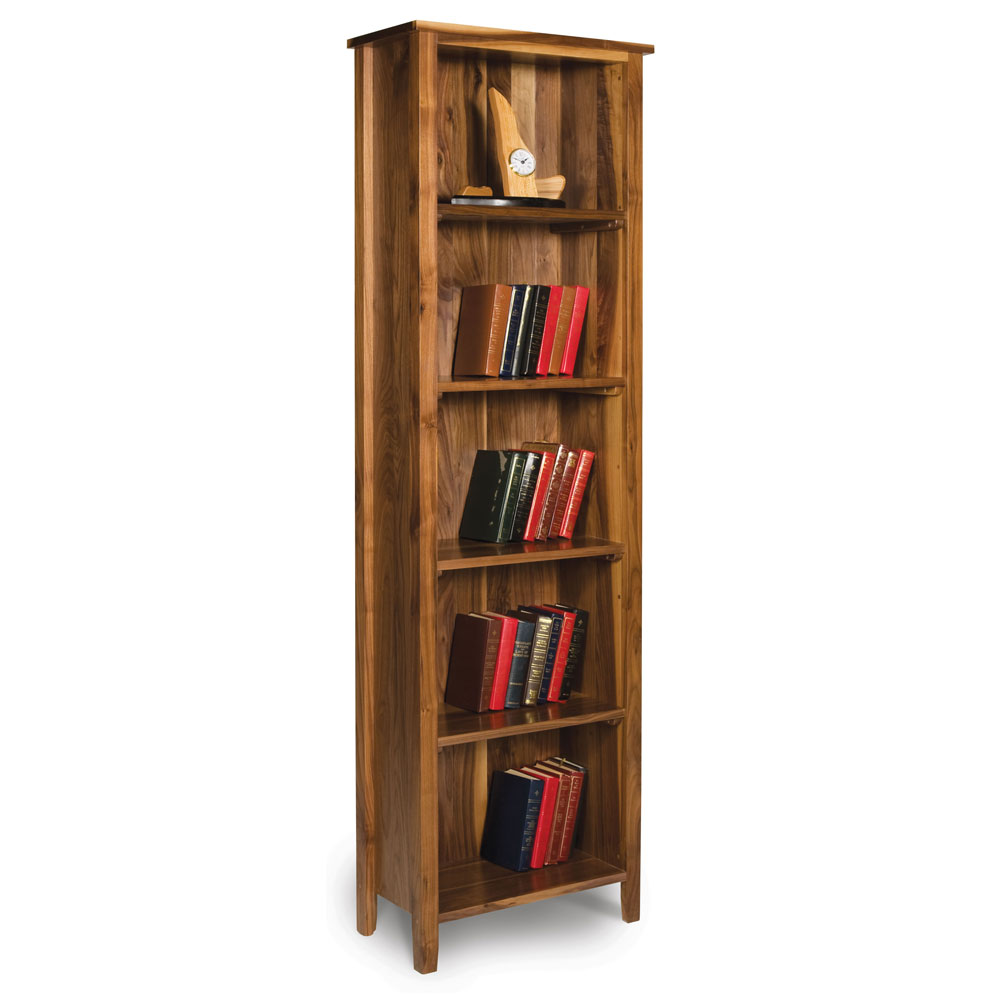 Walnut Shaker Bookcase