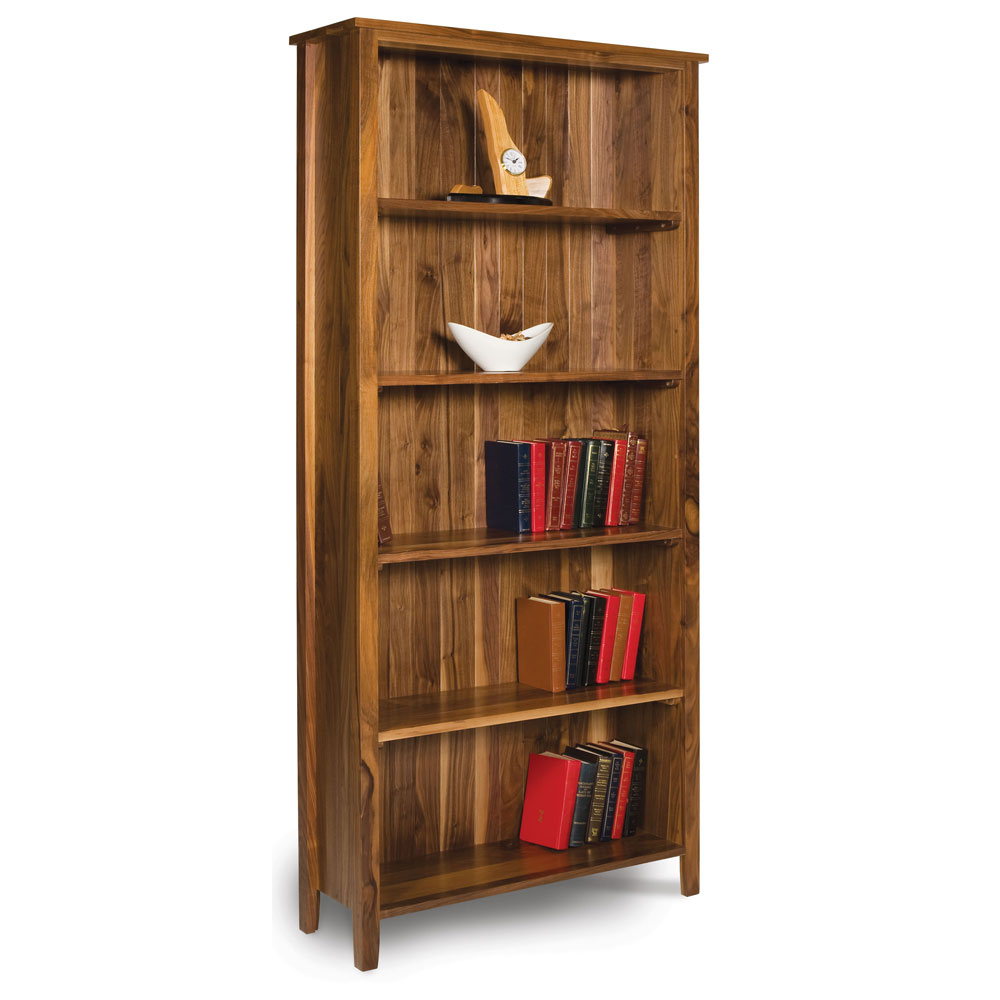 Walnut Shaker Open Bookcase