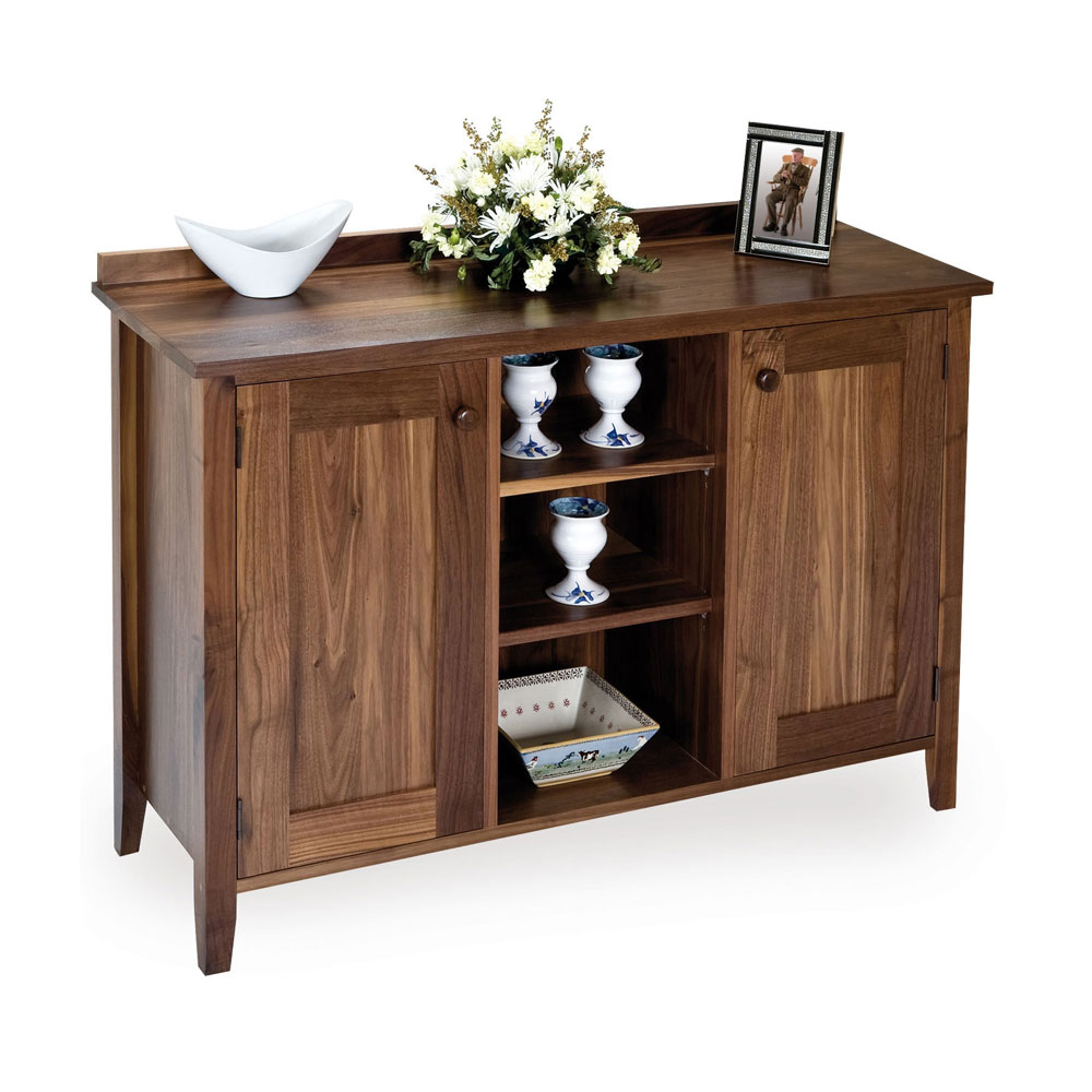 Walnut Shaker Glazed Sideboard