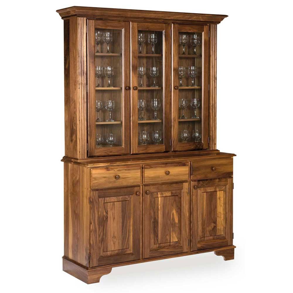Walnut Glazed Dresser W 143 cm H 200 cm D 47 cm