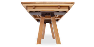 Oak Curved Drawleaf Timber Insert Legs Table