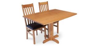 Oak Curved Sing Pod Cross Pod Table