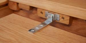 Oak Oval Flip Top Extending Table