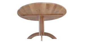 Oak Rustic Round Light Brushed Washed Single Pedestal Table