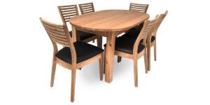 Oak Oval 4 Leg Table (1 only)