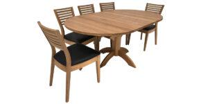 Oak Oval Flip Top Extending Arc Pedestal Table (1 only)