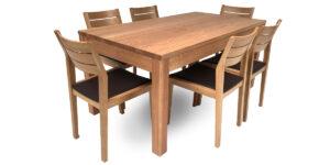 Oak Rectangular 4 Shaker Leg Table (1 only)