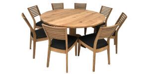 Oak Round Knotty Single Pod Table (1 only)