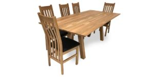 Solid Oak Rectangular Table Splayed Legs (made to order)