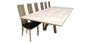 oak Rectangular Washed Table Insert Leaf Table (1 only)