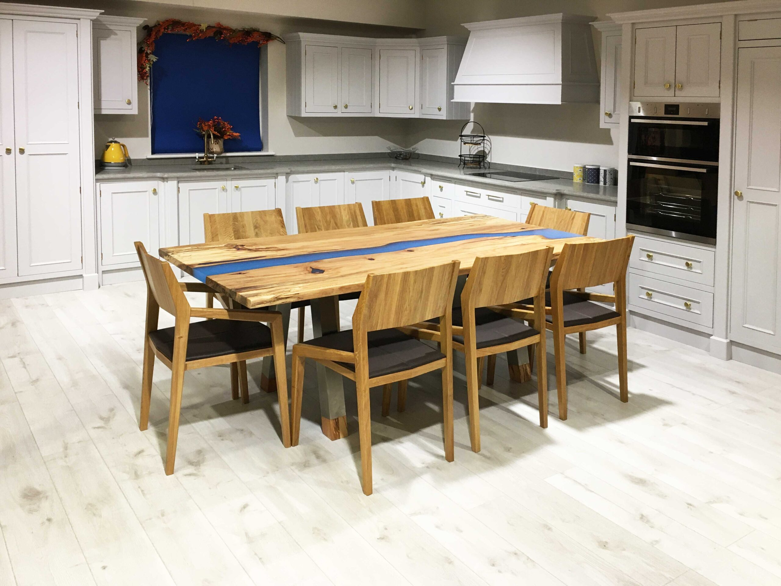 Spalted-Beech-Blue-Resin-Delta-Table-Stainless-Steel-Legs