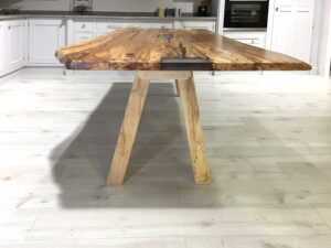 Spalted Beech Resin Lake Table