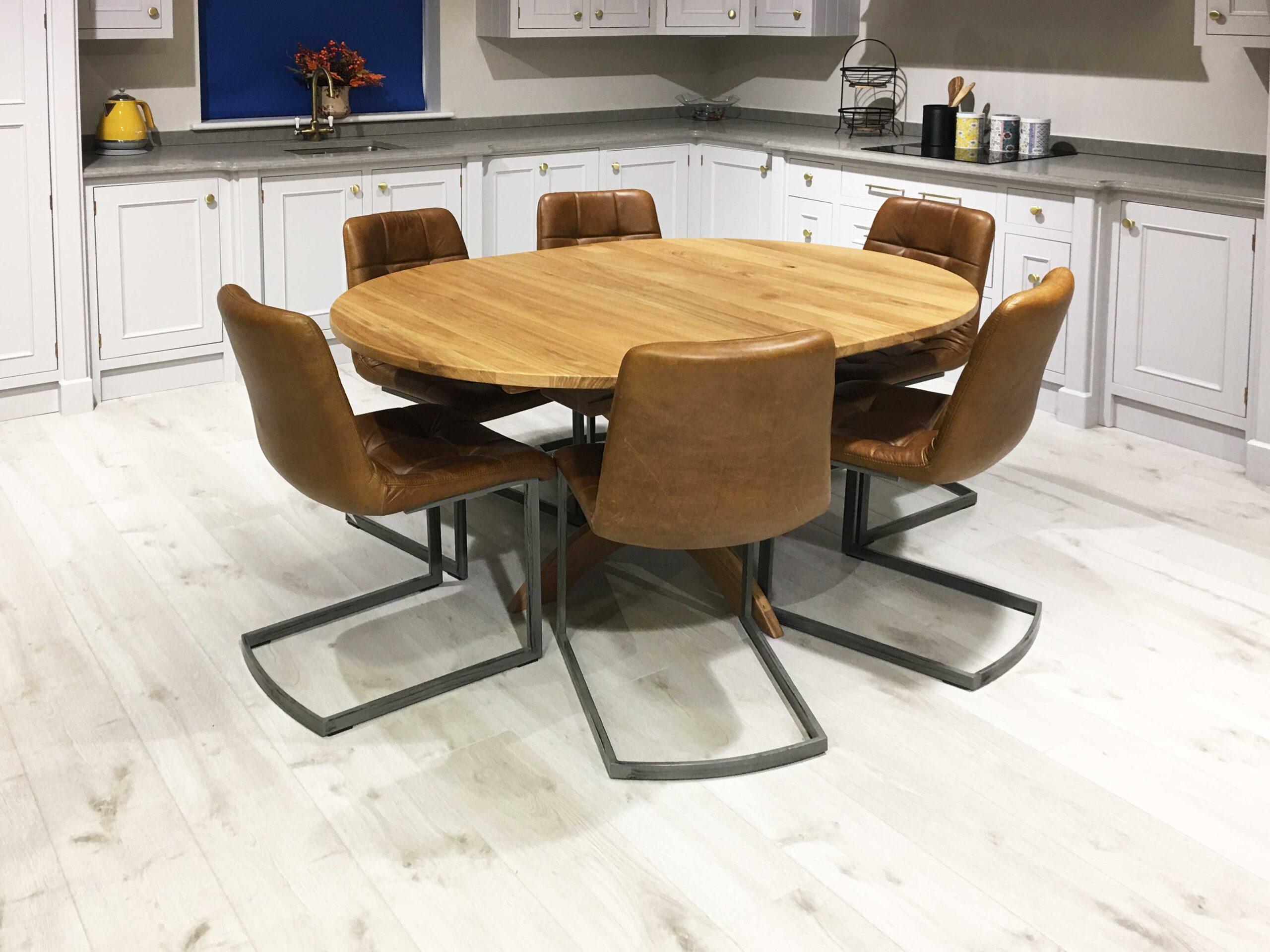 Oak-Round-Flip-Top-Single-Pedestal-Table-1200-x-1200-to-1600-x-1200