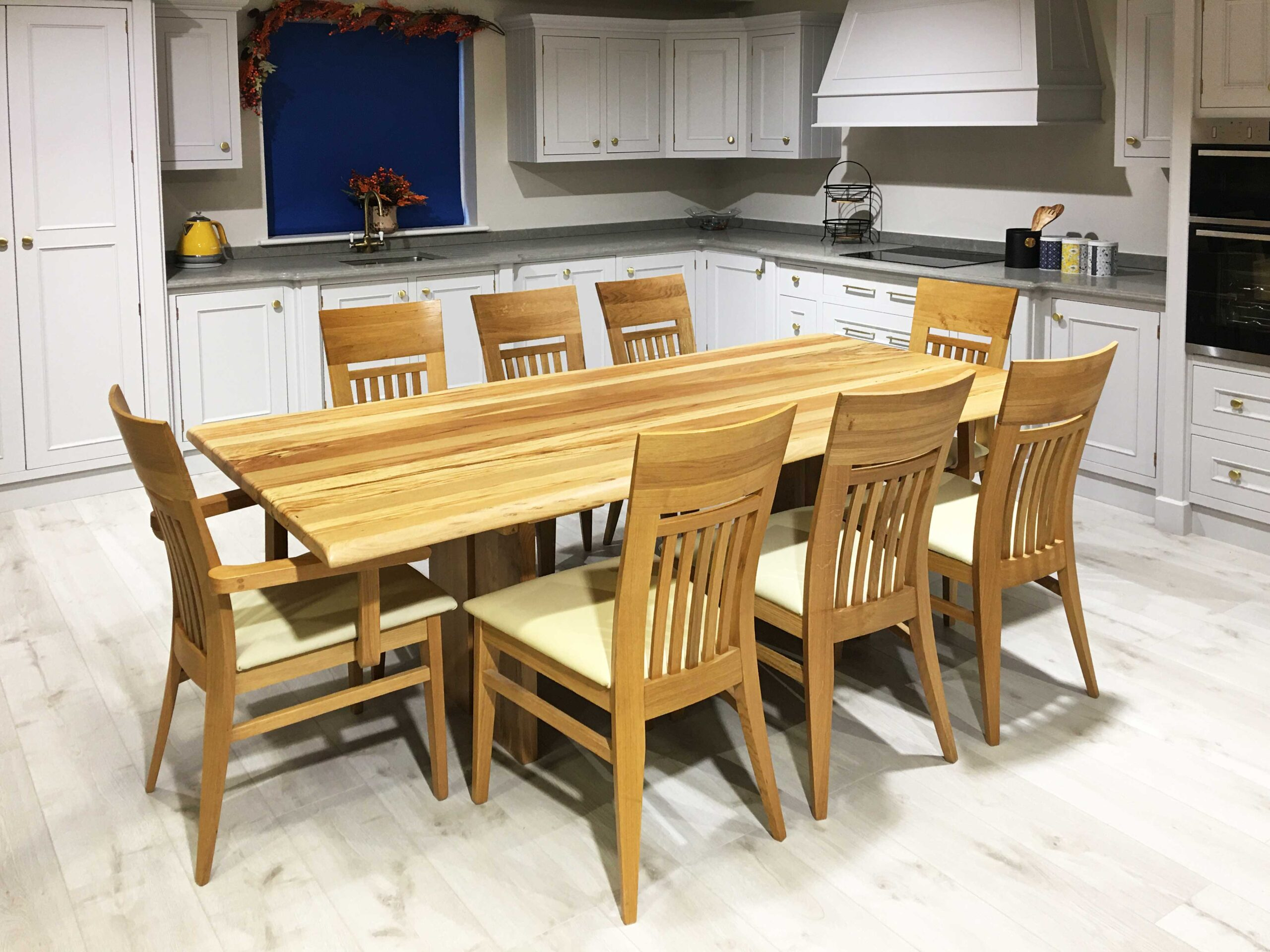 Spalted Beech Rectangular Cranoge Table 2100x1000